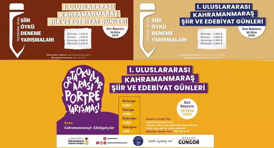 Kahramanmaraş Büyükşehir Belediyesinin Düzenlediği Şiir ve Edebiyat Yarışmaları Sonuçlandı