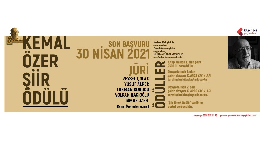 2021 KEMAL ÖZER ŞİİR ÖDÜLÜ BAŞVURUSU